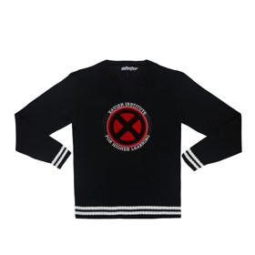 Marvel Xavier Chenille Patch Knitted Sweater