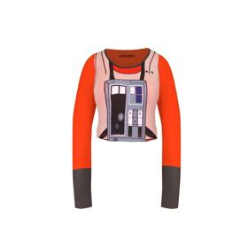 Star Wars Rebel Long Sleeve Crop Top