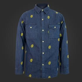 Adventure Time Lemongrab Denim Button Up