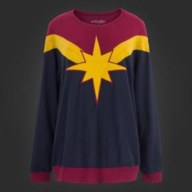 Marvel Captain Marvel Oversized Sweatshirt