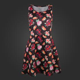 Marvel Deadpool Tacos and Roses Dress