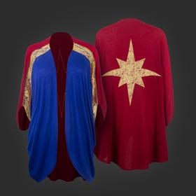 Marvel Captain Marvel Dolman Shrug