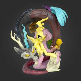 My Little Pony Discord Flutter On Deluxe Resin Figure