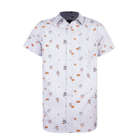 BB-8 Hand Drawn Woven Button Up
